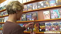 Grandma Miluska Fucking A Young Video Store Clerk Thumbnail