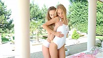 Nancy A and Kira Parvati in Wonderful wakeup lesbian scene by SapphiX