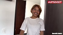 LETSDOEIT - Ebony Latina Maid Rides a BBC at Work Thumbnail