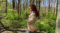 Amateur public sex in the forest with a beautiful girl KleoModel