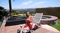 SpyFam Step sister Alexis Adams caught step brother spying by the pool image