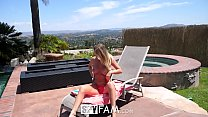 SpyFam Step sister Alexis Adams caught step brother spying by the pool Preview