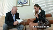 Office slut Allie Haze bangs the boss's Thumb