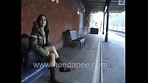 Bursting To Pee At Railway Station, Sexy Lady Relieves Herself Inside The Train