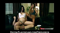 Pair of lesbian girlfriends share one big-cock in a threesome tumblr xxx video