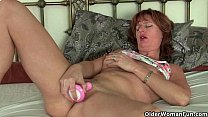 Sizzling hot redhead milfs take matters into their own hands thumbnail
