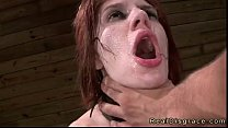 BDSM big tits redhead deep throat fucked in dun...