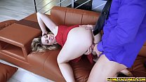 Zoey Monroe bend over and her pussy is doggystyle fuck on the couch!