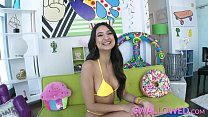 SWALLOWED Eliza Ibarra loves sloppy wet blowjobs