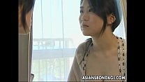 Busty Japanese gal gets bound and screwed hard image