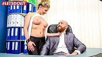 LETSDOEIT - Hot German Secretary Shivers On Her Boss's Cock