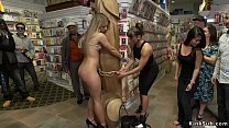 Hot ass blonde anal fucked in public