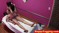 Tattooed asian tugging masseuse صورة