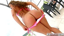 AllInternal Stunning brunette reveals her anal ...