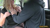 Super hot blonde customer gets creampied by her hunk driver