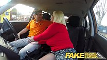 Fake Driving School Busty mature MILF sucks and fucks lucky instructor