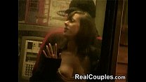 hot couple interracial in stairs