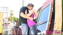 Raunchy 18yo Tessa Taylor pussy stretched outdoors Thumbnail