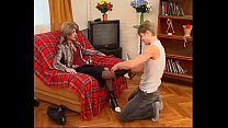 MateMature.com # Mature Slut In Stockings Craves Young Pipe In Hole's Thumb