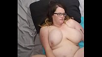 Bbw huge tit wife fucked and cum on face, tits and belly Image