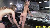 Cute aspiring blonde singer sucked on DJ babe s... thumb