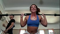 Slave trainee anal fucked after gym