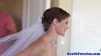 Stunning bride facialized by her Photographer thumbnail