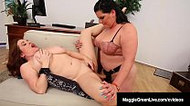 Mega Tits Maggie Green StrapOn Fucked By BBW Angelina Castro