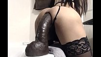 Trans Ride 12 inches moster dildo and cum inside