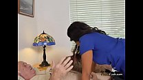 Sexy Young Masseuse Tara Foxx Blows Old Client