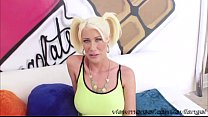 Hot Blonde Riley Jenner Gets Her Ass Fucked Hard By The Directors Massive Cock