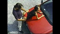 Marianna having sex on a car video
