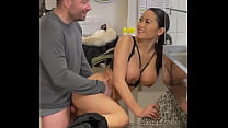 Good Sex In The Restaurant With Busty Asian Fre