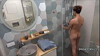 Alex in the shower - voyeur cam