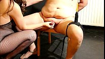 Teasing my slave with a lapdance