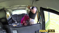 sexowap hd - Fake Taxi Fetish Queen in black leather gets anal creampie thumbnail
