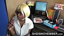 Hot Black Secretary Msnovember Taking Cumshot In Office, Fucked On Table, Hardcore Missionary & Riding The Bosses Big Cock, Then Giving Blowjob HD Sheisnovember صورة