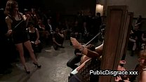 All girl most intense bondage and bdsm in public thumbnail