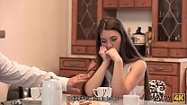 7934 DADDY4K. Aroused babe let BF's handsome dad stretch her all over sofa preview