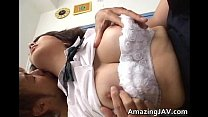 Horny japanese teen fucking and sucking