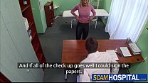 Gorgeous blonde Victoria gets rammed by the doc...