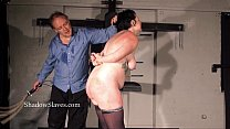 Hellpain amateur whipping and tattooed slaveslut spanking in dungeon footage