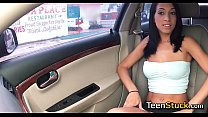 model girl seduced in car with smooth talk thumbnail