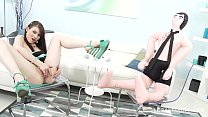 Nympho Teen Luna Rival Fucks hard with Double Pussy & Anal, No Limits!! image