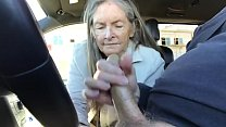 granny blowjob in car - cum preview image