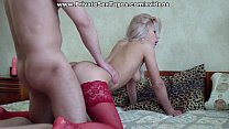 Lingerie doll fucks dildo and cock and does amateur oral sex