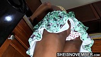 16396 Alluring Step Daughter Up Skirt Poka Dot Panties In Sexy Butt Cleaning Before Dad Gets Home , Little Ebony Msnovember Sexy Booty Wedgie HD On Sheisnovember preview