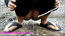 Heather Deep explores trail in jungle and get creamthroat in abandoned toilet trailer thumbnail