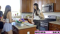 MomsTeachSex - Hot Step-Mom And Teen Get Messy Facial - 9Club.Top
