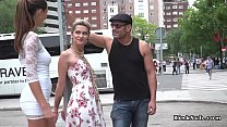 Hot blonde humiliated in public streets